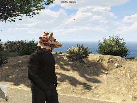 Manhunt pig mask to franklin