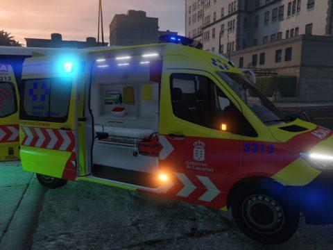 Ambulancia SVB Servicio Urgencias Canario SUC 2019 Mercedes Sprinter VS30 [no-els/els/replace] nueva rotulacion 2.0
