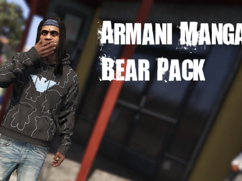 Armani Manga Bear All over Hoodie/Shirt 1.0