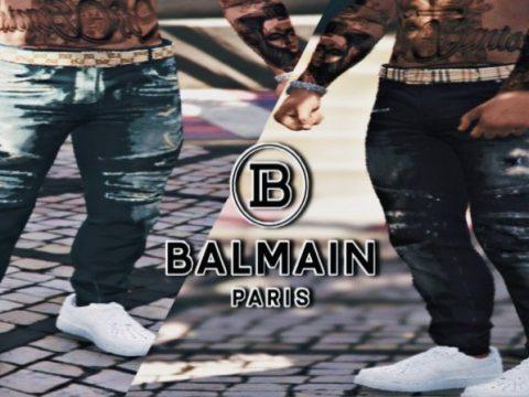 Balmain Jeans With Designer Belt MP Male 1.0