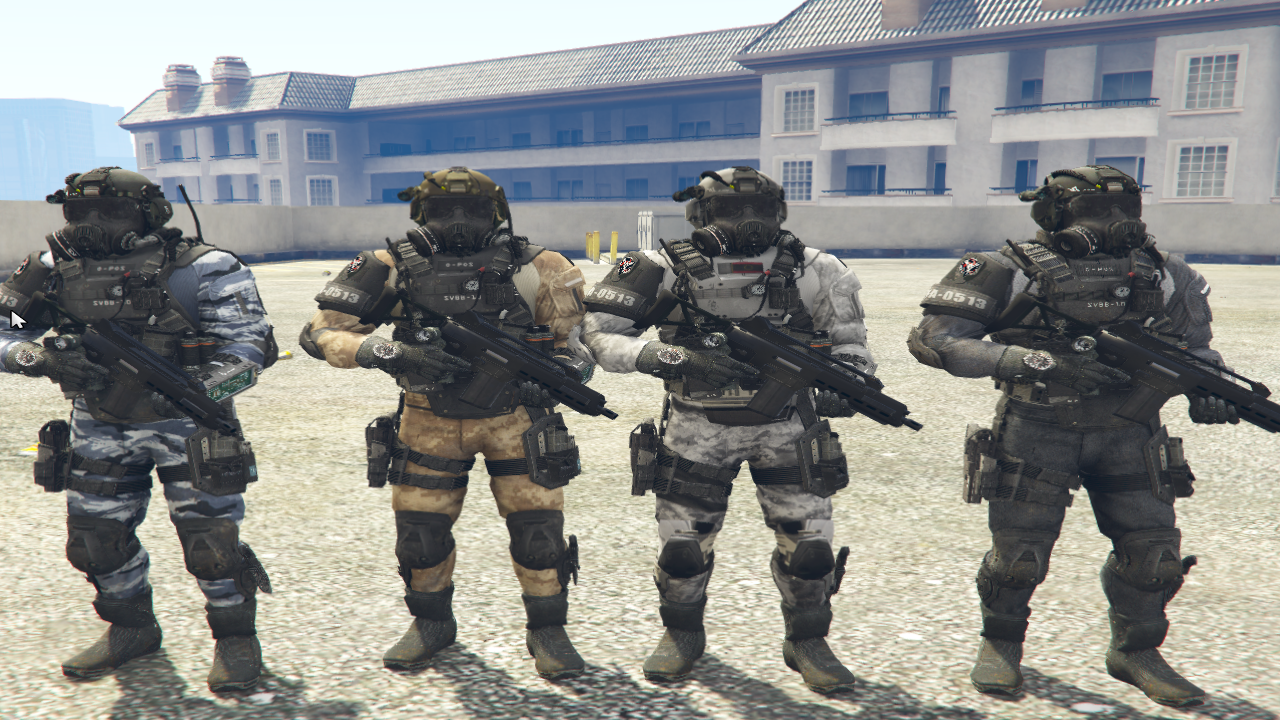 Call Of Duty Ghosts: PMC Model Texture Variation Pack 1.0