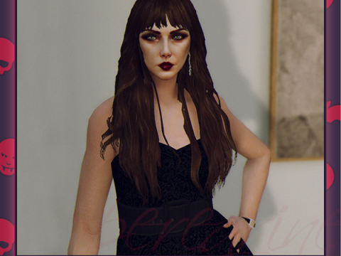 Curly Bangs For MP Female FIVEM Ready 1.1