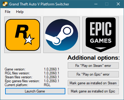 Grand Theft Auto V Platform Switcher 1.0