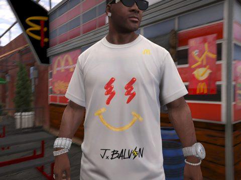 J.Balvin McDonald's Smiley Face T-Shirt