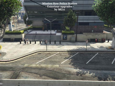 Mission Row PD Exterior for Roleplay [SP / FiveM]