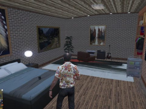 MyHouse Real Live and Underground Basement | GTA V Mod Property Final