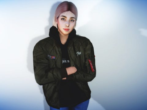 Regularsized Hoodie Jacket For MP Female 1.0