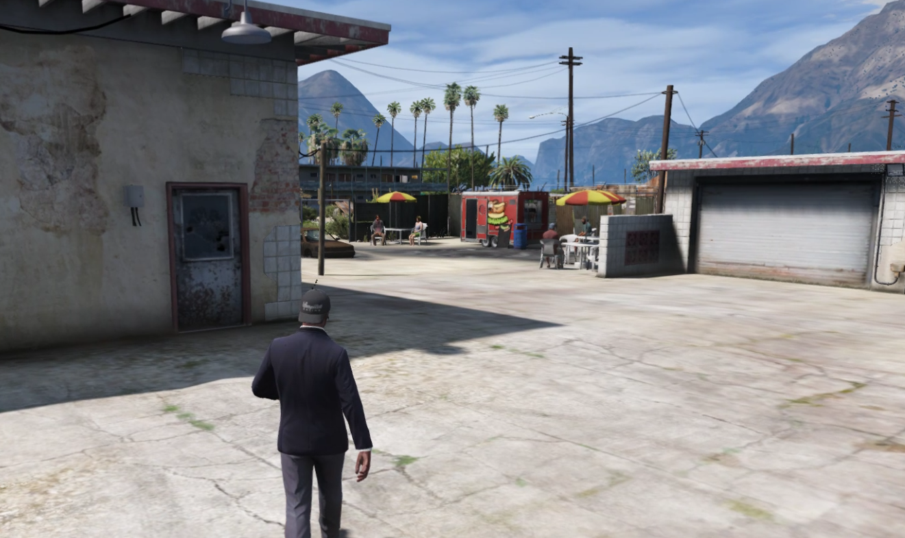 Sandy Fire Station Gas Pumps and Dining Area [YMAP] 1.0
