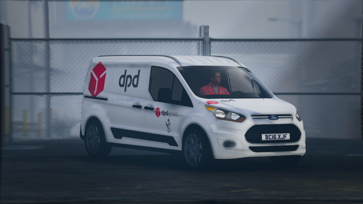 DPD Ford Connect Van [Replace   Livery   Templated] 1.1