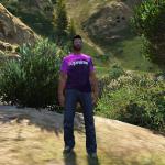 Purple Tie Dye Supreme Shirt MP/SP Male 1.0