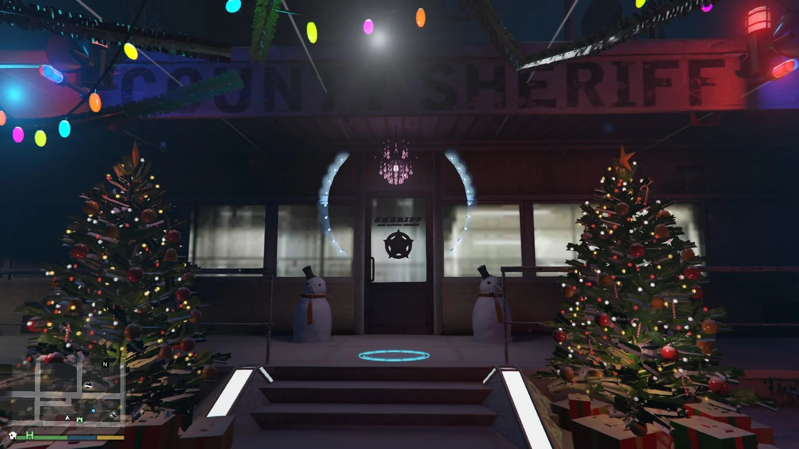 Sandy Shores Sheriff Office Christmas and New Year Decoration 1.0