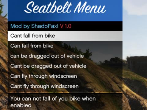 Seatbelt Menu 1.0