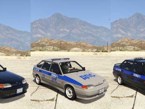 VAZ-2114-2115 LADA Samara 2 Police [Add-On   Extras] 1.0