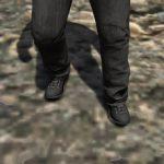 Black combat boots for franklin