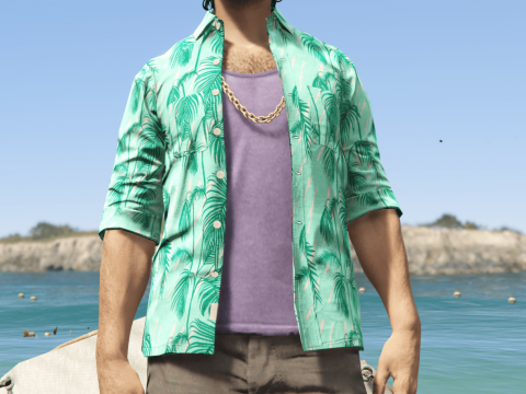 [MP Male] Cayo Perico Hawaiian Shirt Texture Patch 1.0