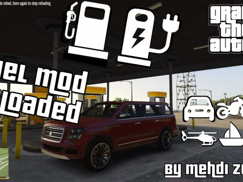 Fuel Mod Reloaded, electric cars, fuel in all vehicle types, charge e-car at home, RPM based and more 1.0