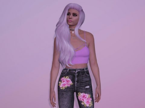 Long wavy hairstyle for MP Female