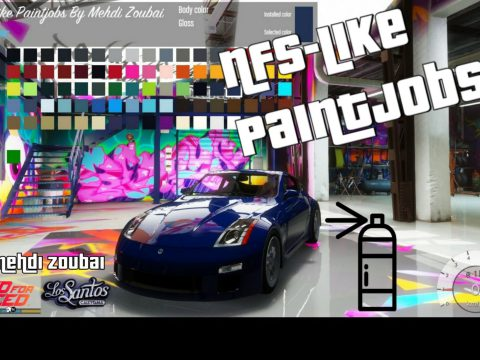 NFS-like Paintjobs, 17 Paint types, custom RGB color, colored chrome and more 1.0