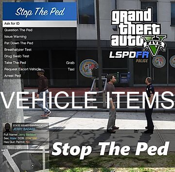 Stop the ped vehicle items modification 1.1