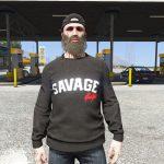 Sweater Black SAVAGE/illiminate. [Freemode Male] v2.0