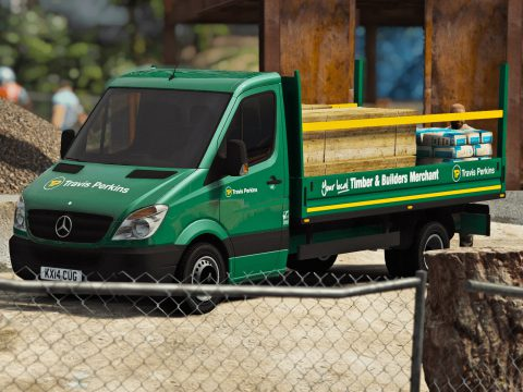 Travis Perkins Mercedes Sprinter Dropsides Flatbed [Replace | Livery] 1
