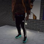 Sagged adidas runners
