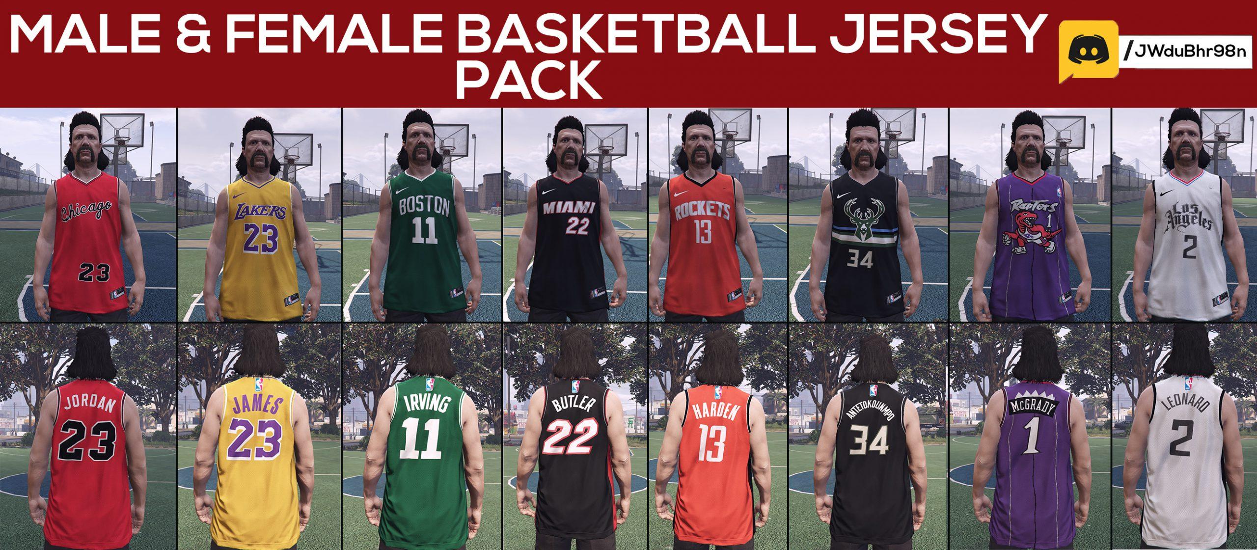 Male & Female Basketball Jersey Pack 1.0