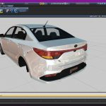 KIA Rio K2 Sedan 2017 (DEV Model / Z3D, BLEND, OBJ, FBX, DAE) Dev Model