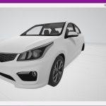 KIA Rio K2 Sedan 2017 (DEV Model / Z3D, BLEND, OBJ, FBX, DAE) Dev Model
