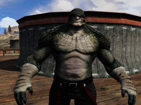 Killer Croc From Arkham Origins [Add-On Ped]