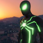 PS4 Spider-Man Big Time (Stealth) Suit w/ Emissive Effects [Add-On Ped]
