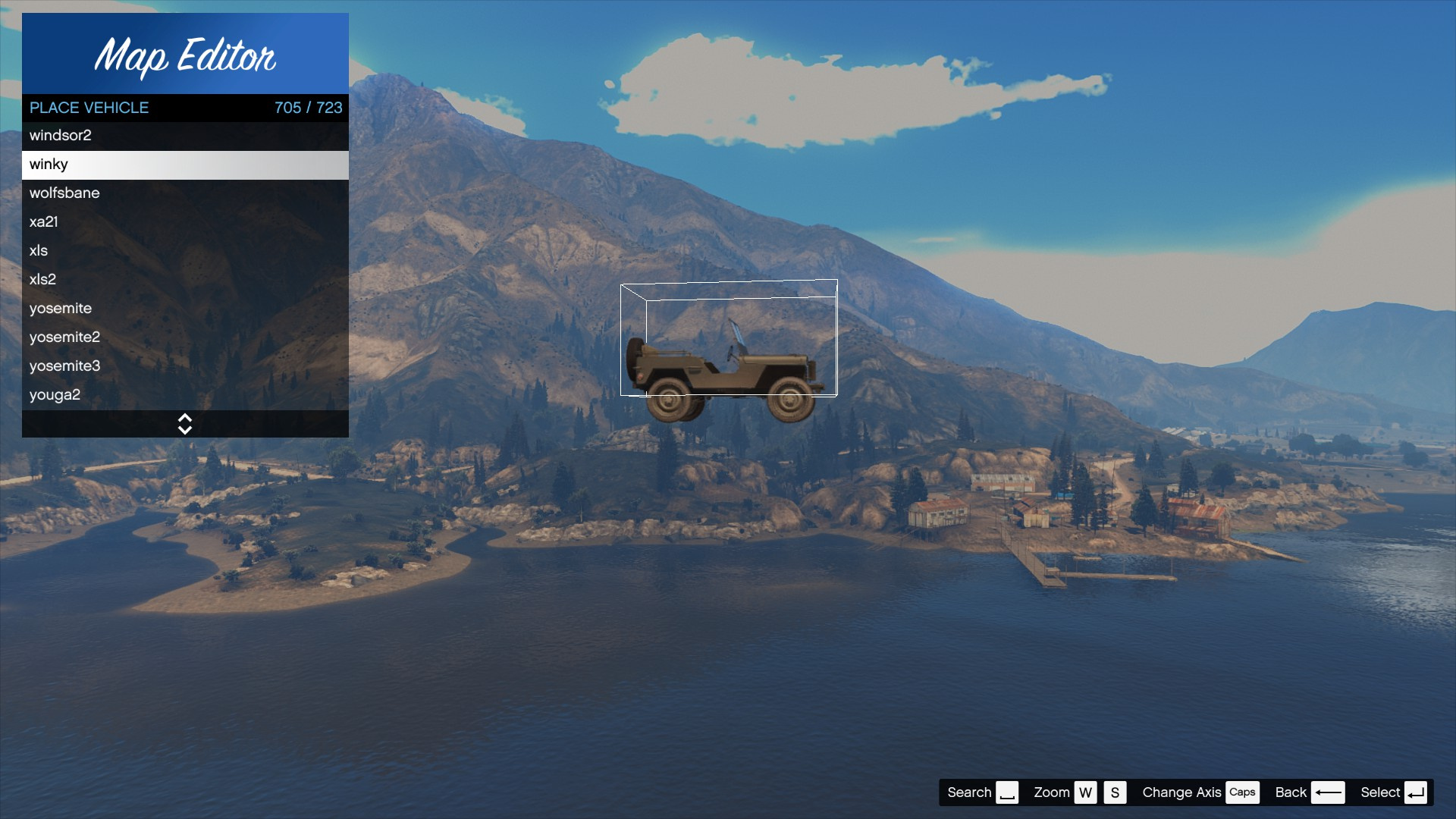 Updated Vehicle List For Map Editor 2.5 (Cayo Perico Heist DLC)