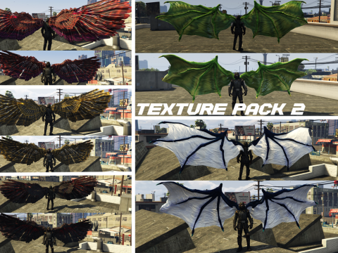 Demon & Angel Wings Retexture packs Pack 1