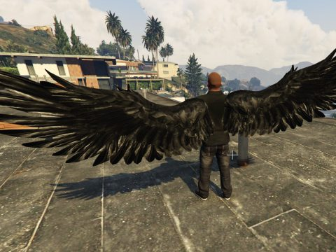 Angel Wings Retexture - Realistic Wings - BLACK 1.0