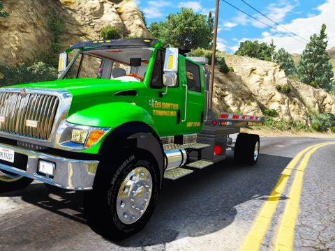 CXT flatbed tow truck [Add-On / Replace | FiveM | ELS / non-ELS] non els v2.1
