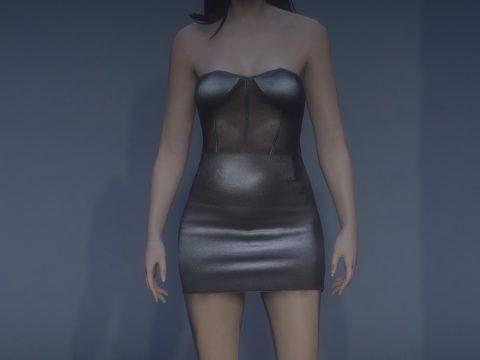 Leather dress MP female v1.0