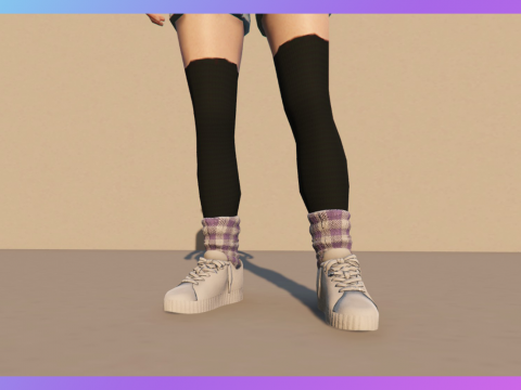 Sneakers with socks for MP Female