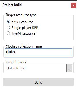 Alt:V Cloth Tool / Addon clothes dlc generator 1.2