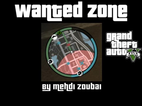 Wanted Zone, the zone that the police are dispatched to, from GTA4 wanted system 1.0