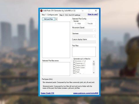 Add Peds OIV Generator Tool 1.3