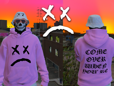 Lil Peep Pink Hoodie for MP Male 1.1