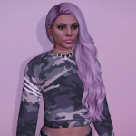 Long curly hairstyle for MP Female