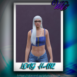 Long hair with a braid for MP Female 1.0