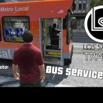 Los Santos Bus Service (as client), bus transport service in Los Santos, player as passenger [OpenIV] 2.0.1 beta