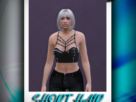 Short hair with bangs for MP Female [SP / FiveM] 1.0
