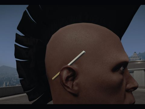 Cigarette behind the ear for MP male 1.1
