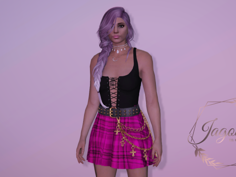 Ombree braid hairstyle for MP Female