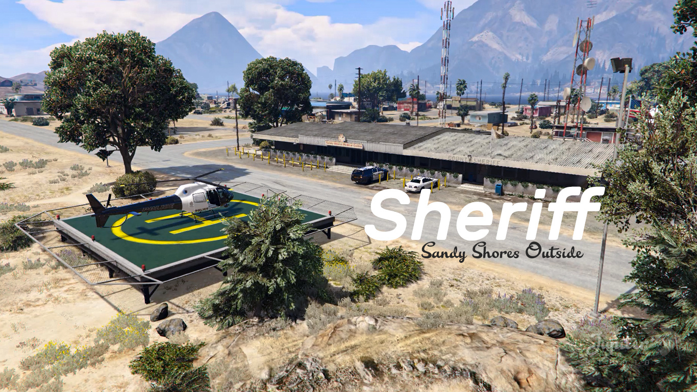 Sheriff Sandy Shores Outside [Fivem / Ymap] 1.0