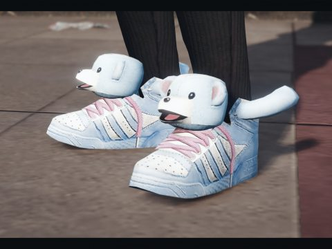 Shoes with dog's head for MP female 1.0