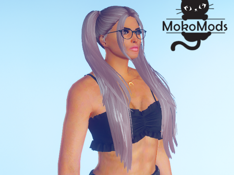 Double Ponytail Hairstyle for MP Female